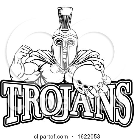 Spartan Trojan Bowling Sports Mascot by AtStockIllustration
