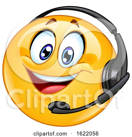 Call Center Emoji Wearing a Headset by yayayoyo