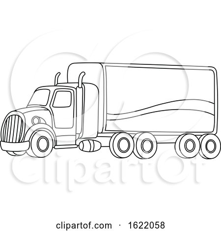 Black and White Big Rig Truck by yayayoyo