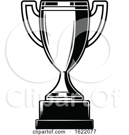 Black and White Trophy by Vector Tradition SM