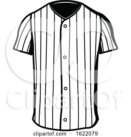 Black and White Baseball Shirt by Vector Tradition SM