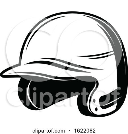 Black and White Baseball Helmet by Vector Tradition SM