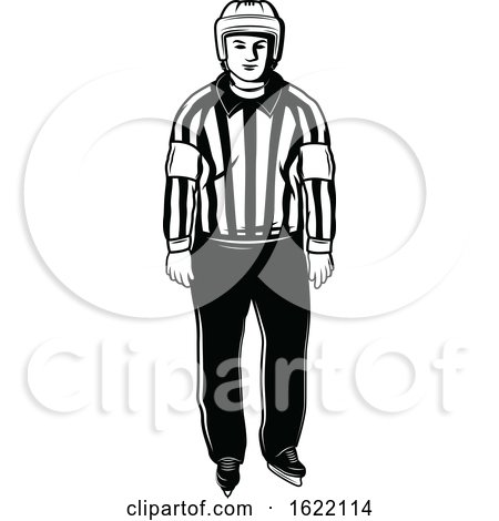 Black and White Hockey Referee by Vector Tradition SM