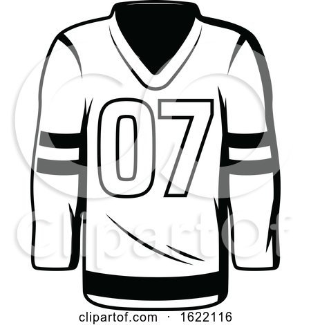 Black and White Hockey Jersey by Vector Tradition SM