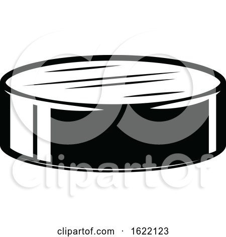 Black and White Hockey Puck by Vector Tradition SM