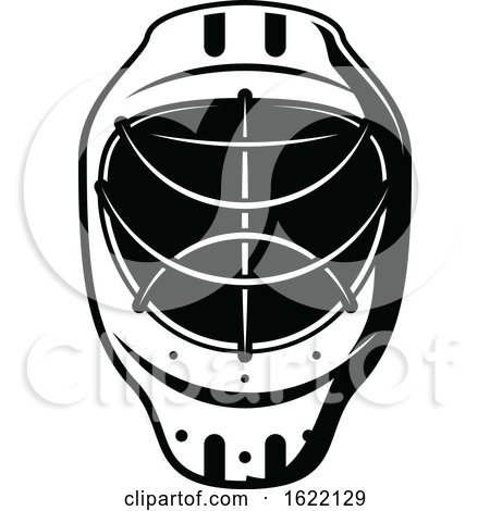 Black and White Hockey Mask by Vector Tradition SM