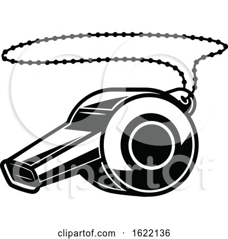 Black and White Sports Whistle by Vector Tradition SM