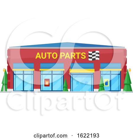 Auto Parts Store Front by Vector Tradition SM