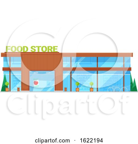 Grocery Store Front by Vector Tradition SM