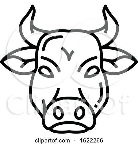 Black and White Bull Beef Icon by Vector Tradition SM