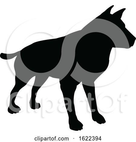 Dog Pet Animal Silhouette by AtStockIllustration