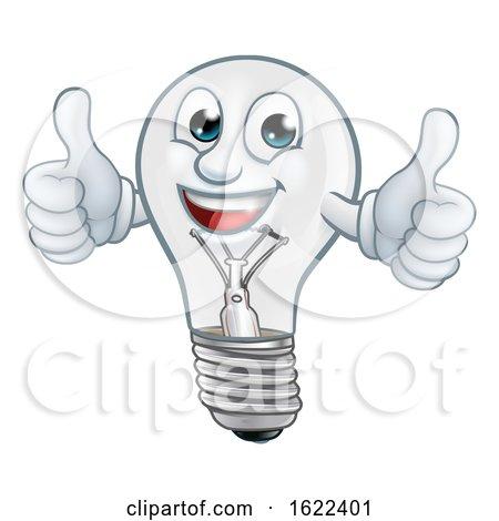 Light Bulb Cartoon Character Lightbulb Mascot by AtStockIllustration