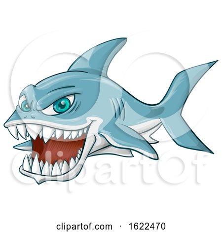 Fierce Shark Mascot by Domenico Condello
