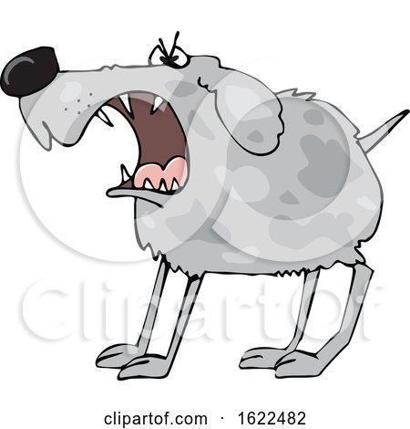 Cartoon Barking Guard Dog by djart
