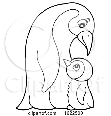 Emperor Penguin and Chick Posters, Art Prints