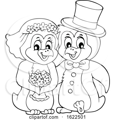 Penguin Wedding Couple by visekart