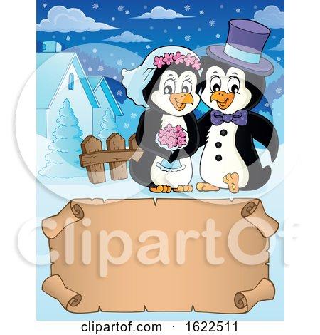 Penguin Wedding Couple by visekart
