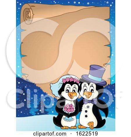 Penguin Wedding Border by visekart