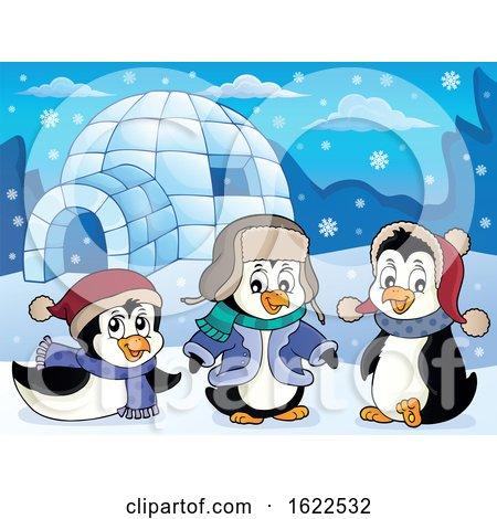 Winter Penguins by visekart