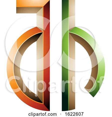 Green and Orange Key like Letters a and H by cidepix