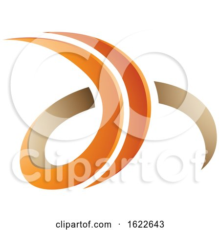 Orange and Beige Letters D and H by cidepix