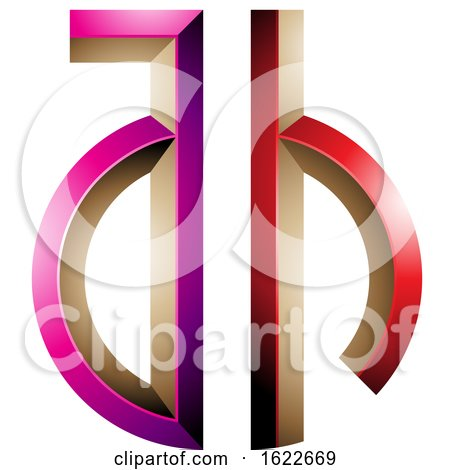 Magenta and Red Key like Letters a and H by cidepix