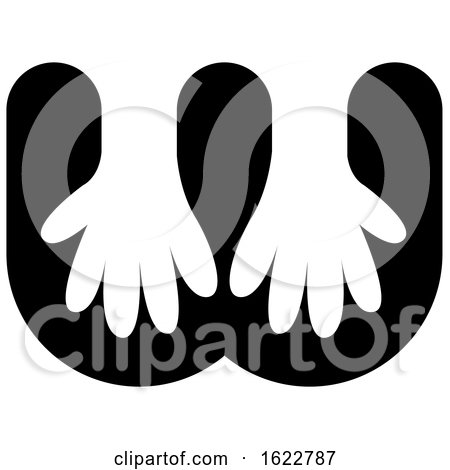 Gloves or Hands in Letter W by Lal Perera