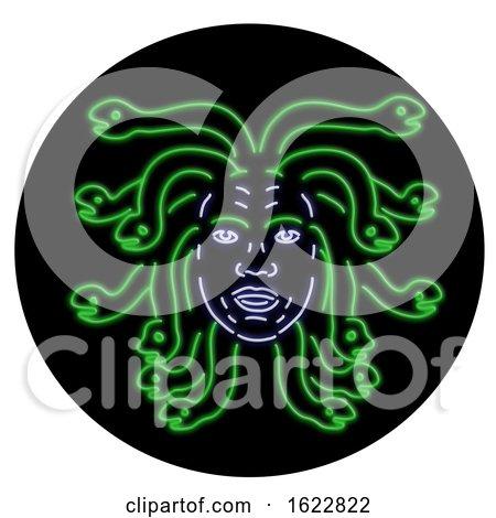 Head of Medusa Oval Neon Sign by patrimonio