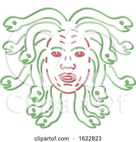 Medusa Head Neon Style by patrimonio