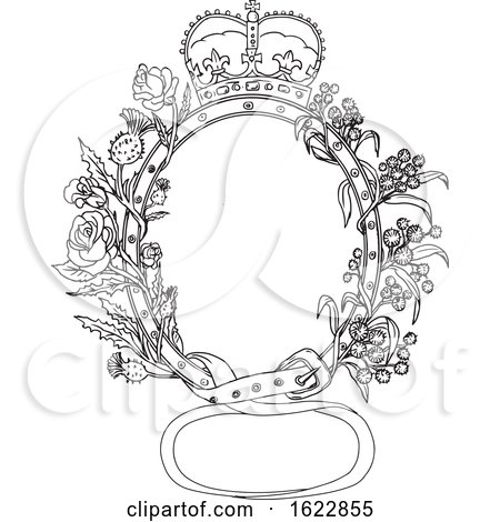 Celtic Belt with Rose and Thistle Drawing by patrimonio