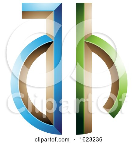 Blue and Green Key like Letters a and H by cidepix