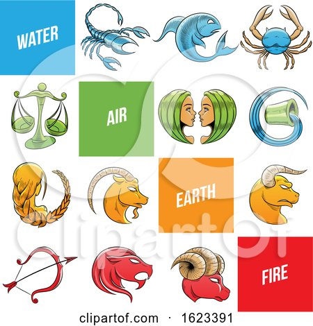 Sketched Colorful Zodiac Signs by cidepix