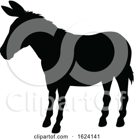 Donkey Animal Silhouette by AtStockIllustration