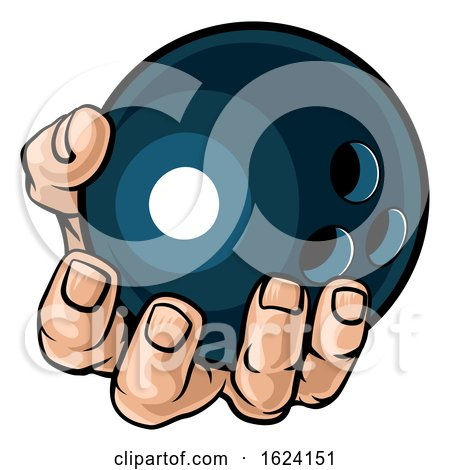 Hand Holding Bowling Ball by AtStockIllustration