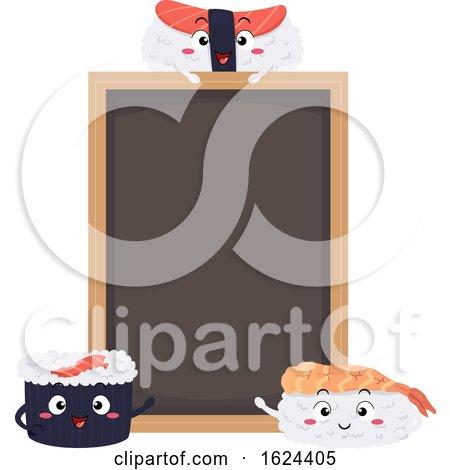 Sushi Board Illustration by BNP Design Studio