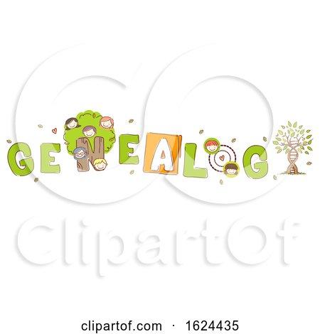 Stickman Kids Genealogy Lettering Illustration by BNP Design Studio