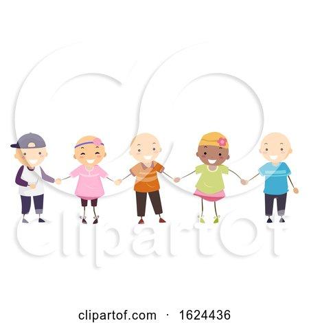 Stickman Kids Girl Boy Alopecia Illustration by BNP Design Studio