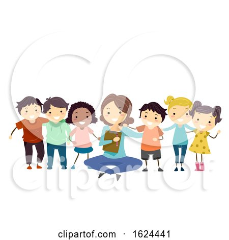 Stickman Kids Group Counseling Psychiatrist by BNP Design Studio