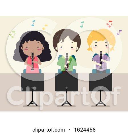 Kids Clarinet Music Class Illustration by BNP Design Studio