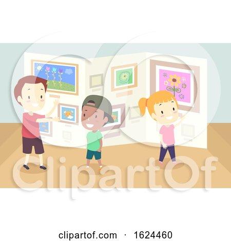 Kids Gallery Art Walk Illustration by BNP Design Studio