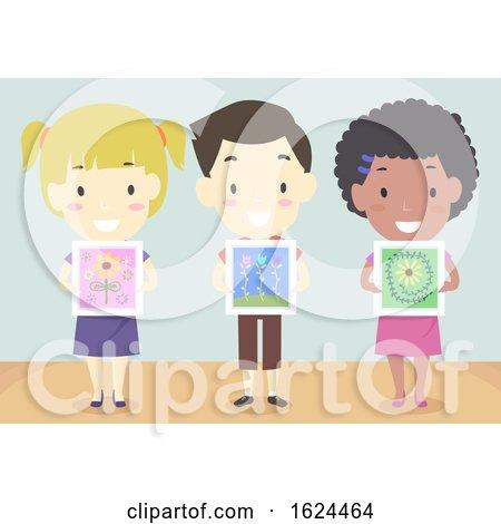 Kids Show Paintings Illustration by BNP Design Studio