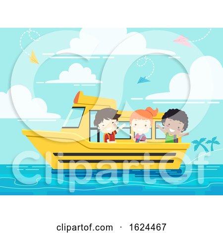 Kids Student School Boat Illustration by BNP Design Studio