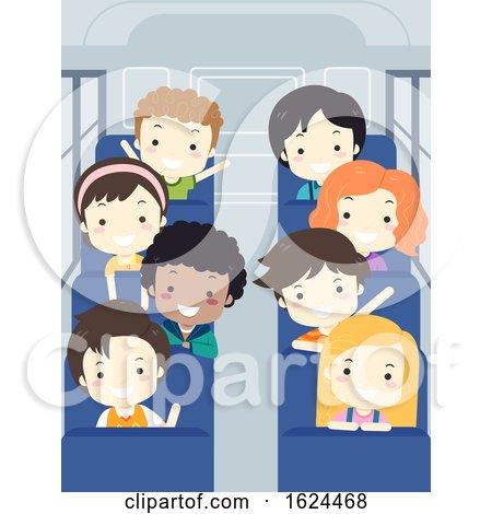Kids Student School Bus Interior Illustration by BNP Design Studio