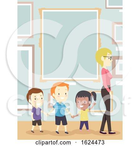 Kids Teacher Gallery Frame Illustration by BNP Design Studio