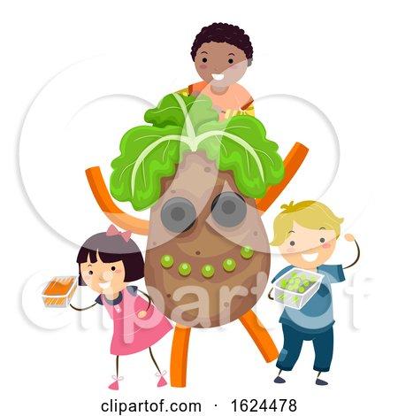 Stickman Kids Farmers Market Kids Potato by BNP Design Studio