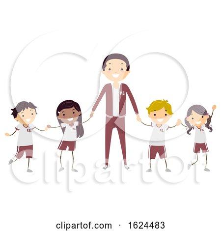 Stickman Kids Teacher Uniform Illustration by BNP Design Studio