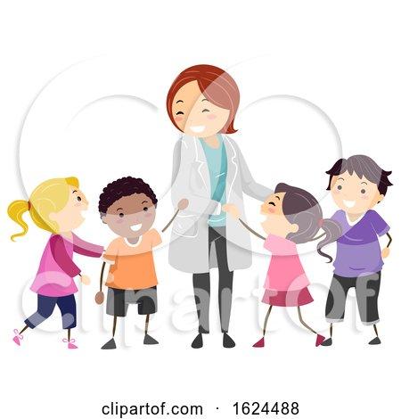 Stickman Kids Psychiatrist Doctor Illustration by BNP Design Studio