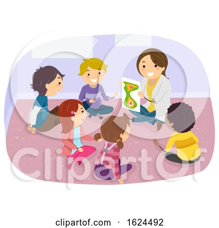 Stickman Kids Room Group Counseling Illustration by BNP Design Studio