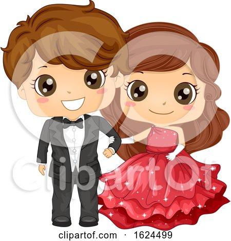 Kids Girl Boy School Prom Illustration by BNP Design Studio