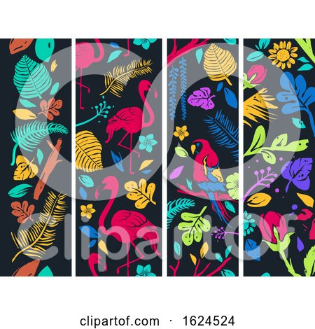 Tropical Banners Illustration by BNP Design Studio